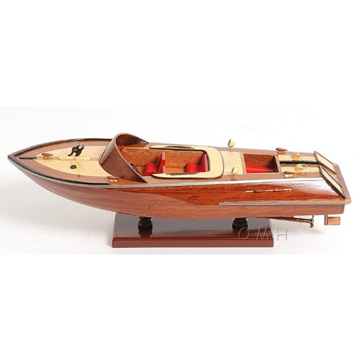 Runabout Canoe Wooden Boat Model -