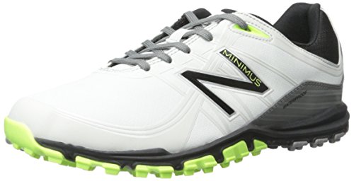 New Balance Men's Minimus Golf Shoe, Grey/Green, 9 D US