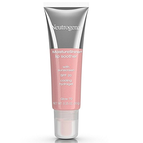 Neutrogena MoistureShine Lip Soother with SPF 20, Glow [70], 0.35 oz