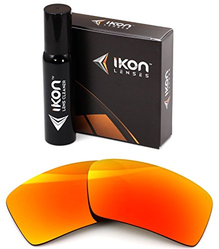 Polarized Ikon Iridium Replacement Lenses For Oakley Eyepatch 2 Sunglasses - Fire Orange - Fire Iridium Oakley Lenses Polarized