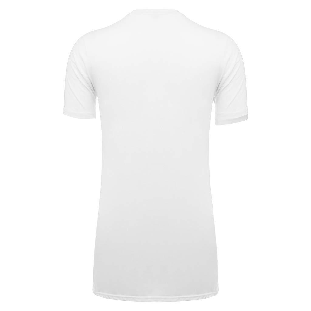 iYYVV Mens Euro-American Style Hem Printing Stripe T-Shirt Short Sleeve Tunic Tops