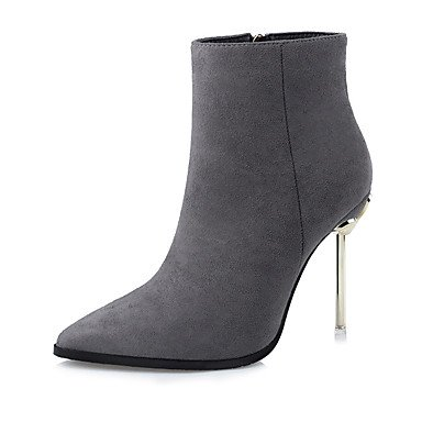 Boots Bootie Party US6 Zipper Stiletto Boots amp;Amp; For Toe Fashion RTRY Heel Shoes Ankle Winter Dress CN36 Booties UK4 Evening Fabric Pointed EU36 Fall Boots Women'S B0pUZC