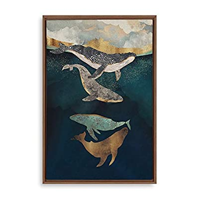 Lovely Picture, Made to Last, Framed Home Artwork Whale Fall for Living Room Bedroom