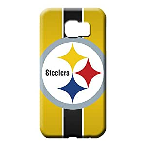 samsung galaxy s6 Shatterproof PC phone Hard Cases With Fashion Design cell phone carrying covers pittsburgh steelers