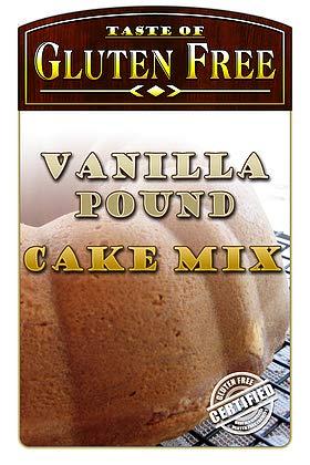 Gluten Free Vanilla Pound Cake Mix