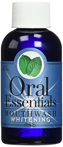 Oral Essentials Whitening Travel Size Formula Mouthwash Pack of Six 2 Oz. For Daily Use Without Sensitivity