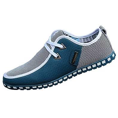 Daytwork Zapatos para Hombre Mocasines - con Cordones Náuticos Ligero Confortable Suela Blanda Cuero Casual Zapatos de Conducir: Amazon.es: Zapatos y ...