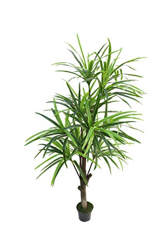 (BEGONDIS 7-Feet Artificial Yucca Tree, Green Fake Plants for Home and Office Decor)