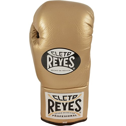 Cleto Reyes Official Lace Up Competition Boxing Gloves - 8 oz. - Solid Gold by Cleto Reyes (Image #1)