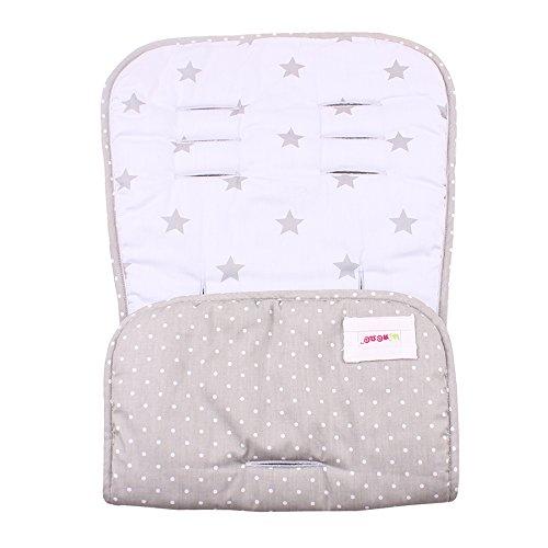 Minene Uk universel r/éversible pour poussette poussette Premium Chanceli/ère Cosy Toes Si/ège de voiture Gris Bleu avec Star