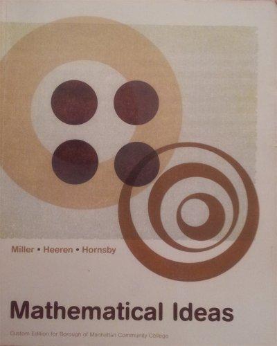 Mathematical Ideas: Custom Ed for Bmcc