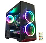 Gaming PC Desktop Computer Intel i5 3.20GHz,8GB Ram,1TB Hard Drive,Windows 10 pro,WiFi Ready,Video Card Nvidia GTX 650 1GB, 3 RGB Fans with Remote