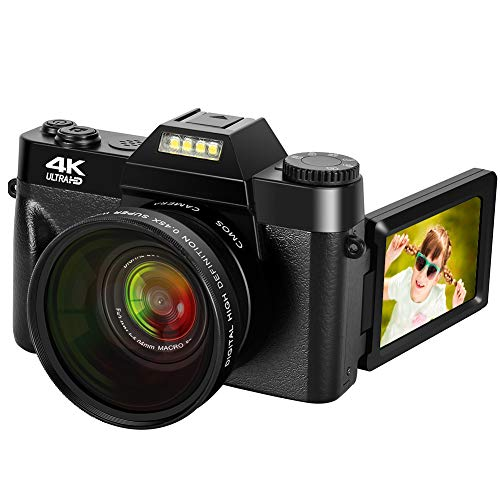 4K Digital Camera 48MP Camera Vlogging Camera for YouTube 30FPS Video Camera 16X Digital Zoom Camera with Flip Screen…