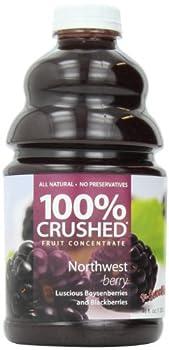 Dr. Smoothie 100% Crushed Fruit Smoothie, NorthWest Berry, 46 Ounce Bottle