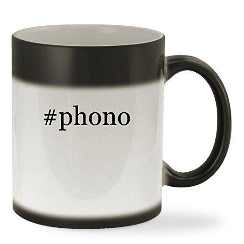 Phono   11Oz Hashtag Color Changing Sturdy Ceramic Coffee Cup Mug  Black
