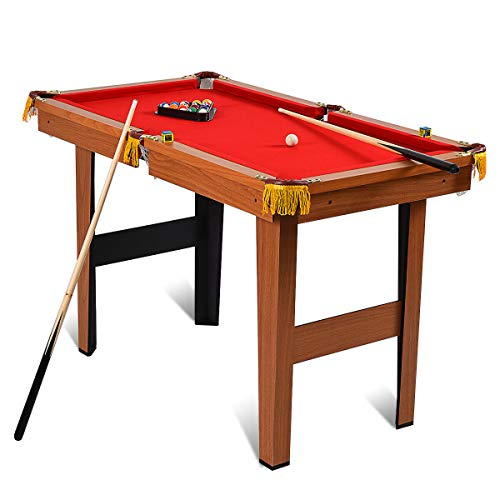 Goplus 48-Inch Billiard Table, Indoor Pool Game Table, w/Balls, Sticks, Chalk, Brush and Triangle, Great Gift for Boys and Girls from Goplus