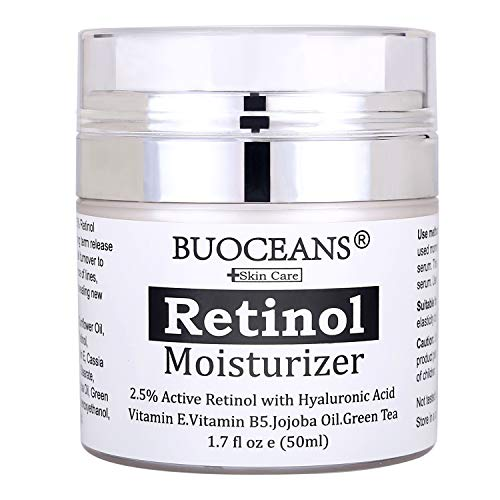 Retinol cream, Retinol Moisturizer Cream - With Retinol, Hyaluronic Acid, vitamin E and Green Tea, Anti Aging, Wrinkles, Fine Lines, Acne, Redness, Best Day and Night Cream.1.7 Oz