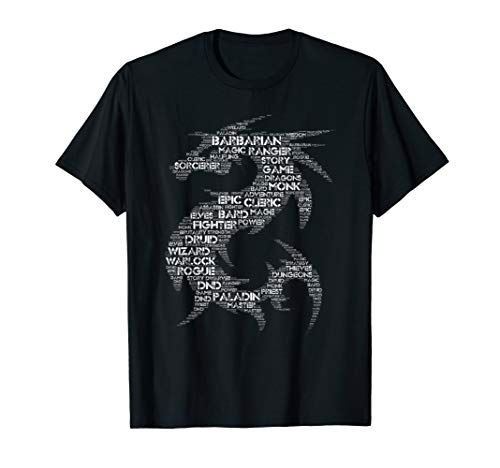 - DND Dragon Word Art Tabletop Game Group T-Shirt