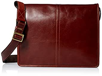 Visconti Vintage-7 Veg Tan Brown Soft Leather Messenger Bag Case, Brown, One Size
