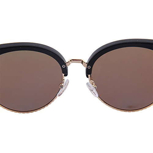 de 's Clubmaster gafas de media Polarized montura sin Ogobvck de montura Men sol semi montura Azul fSq747