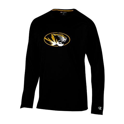 - Champion (CHAFK) NCAA Missouri Tigers Adult Men Long Sleeve Crew Neck Rag, X-Large, Black