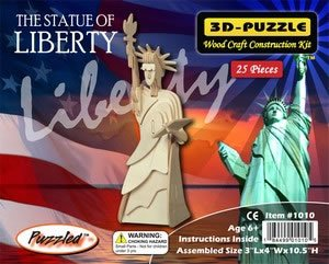 The Statue of Liberty 3D Wooden Puzzle Wood Construction Kit