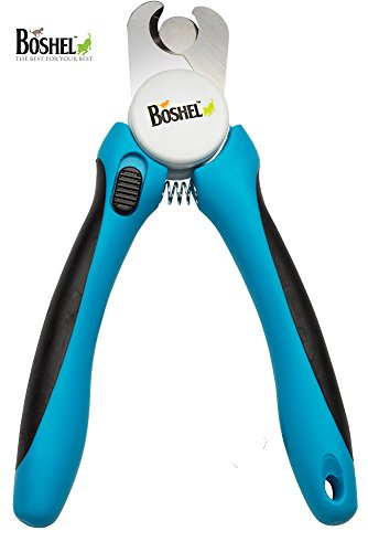 Dog-Nail-Clippers-and-Trimmer-By-Boshel-With-Safety-Guard-to-Avoid-Over-cutting-Nails-Free-Nail-File-Razor-Sharp-Blades-Sturdy-Non-Slip-Handles-For-Safe-Professional-At-Home-Grooming