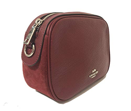 Sv with Chain Cherry Crossbody Leather Womens Pebbled Handbag Coach Isla Bag Bpqazx
