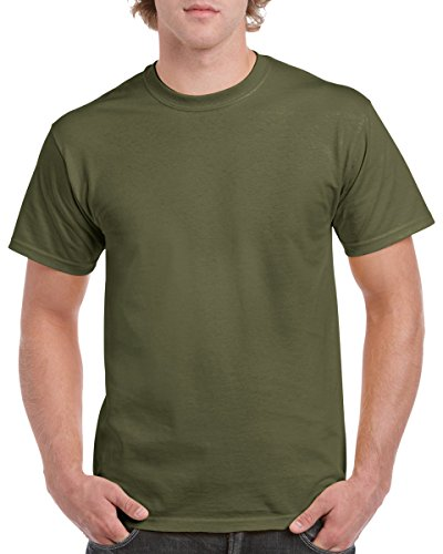 Army Outfit Men (Gildan 5.3 oz. Heavy Cotton T-Shirt, 2X-Large, Military Green)