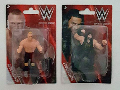 Wrestling Kids WWE Superstar Action Figures Cake Toppers Roman Reigns & Brock Lesnar by Toys