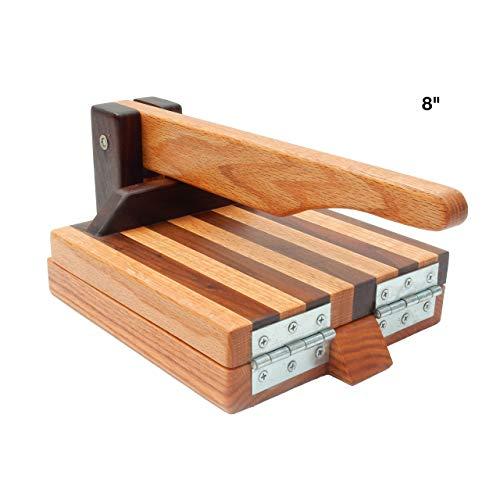 (Hardwood Tortilla Press - Red Oak & Walnut- 8 inch)
