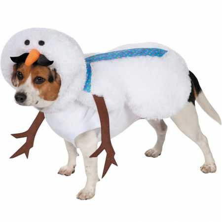Casual Canine Mustache Snowman Costume for Dogs, 12