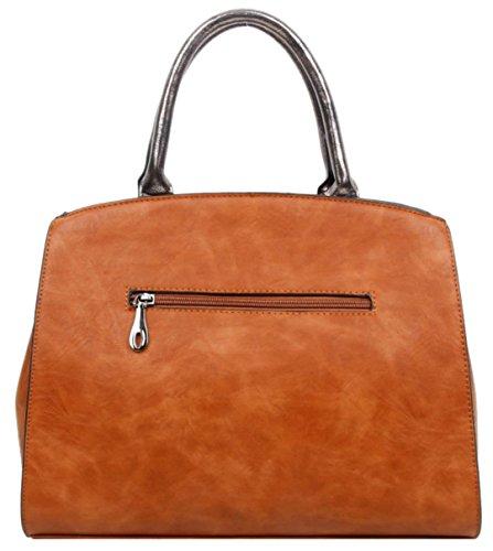 Bolso Asas Handbags De Mujer Girly Para Material Sintético Marrón tdq5xnFUna