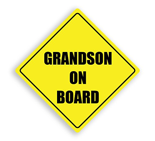 GRANDSON ON BOARD CAR SAFETY VINYL CAR STICKER