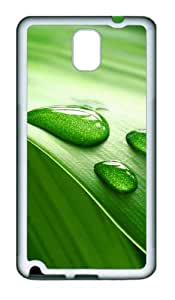 Leaves Drew Closeup Custom Design TPU Silicone Case Cover for Samsung Galaxy Note 3 / Note III/ N9000 šC White