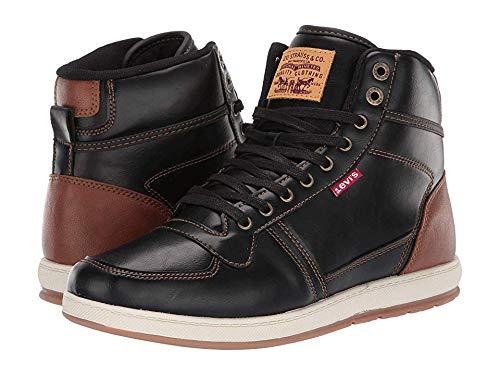 Levi's Mens Stanton Burnish Sneaker,Black/TAN,12