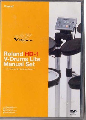 Roland HD-1 V-Drums Lite Manual Set (DVD- Set-up Guide, Video Manual)