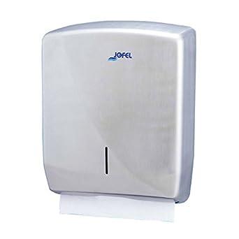 Jofel AH25000 Futura Dispensador de Toallas de Manos, Zig-Zag, Inox Satinado: Amazon.es: Industria, empresas y ciencia