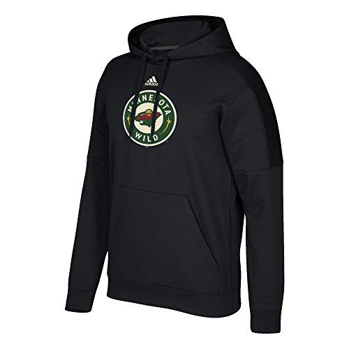NHL Minnesota Wild Adult Primary Logo Stand Out Fleece Hood, Medium, Black
