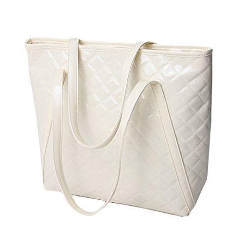 LA Leather Shopper Large Shoulder Women Bag White Tote PU Handbags Fashion HAUTE Designer Bags rxHTYr