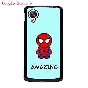 Case For Google Nexus 5 Carcasa Caso-PhoneCaseMaster Spiderman Pattern