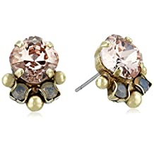 Sorrelli Multi-Cut Round Crystal Stud Earrings