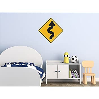 Amazoncom Street Traffic Sign Wall Decals Winding Road To - Road sign furniture