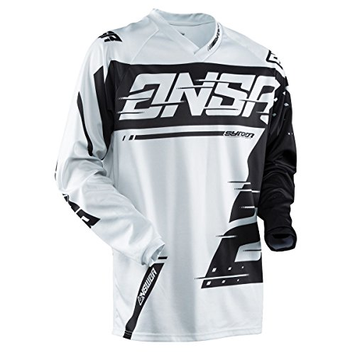 Answer Racing A18 Syncron Youth Boys Off-Road Motorcycle Jerseys - Grey/Black / Large
