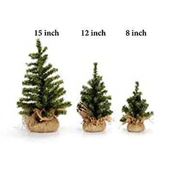 darice mini christmas tree with burlap base canadian 12 - 12 Inch Christmas Tree