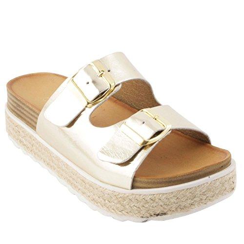 Exclusif ParisExclusif Paris Circee, Chaussures femme Sandales - Sandalias de Vestir Mujer Dorado - oro