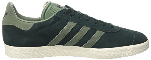 adidas Gazelle, Sneakers Basses Femme Gris (Green Night F17/trace Green S17/gold Met.)