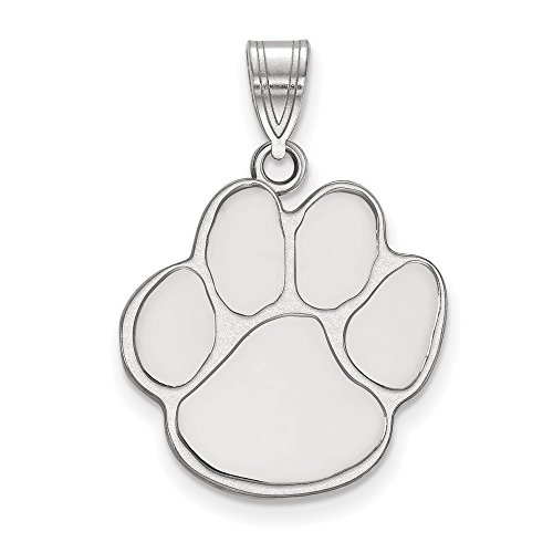 - Jewelry Stores Network Auburn University Tigers Mascot Paw Pendant in Sterling Silver L - (19 mm x 19 mm)