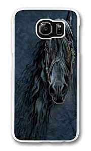 Forever Friesian Horse Polycarbonate Hard Case Cover for Samsung S6/Samsung Galaxy S6 Transparent