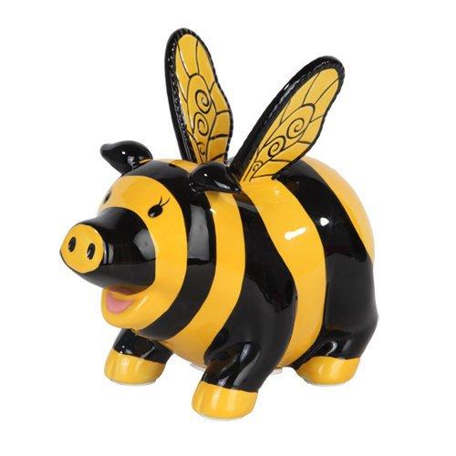 Ptc Group 9879 Ceramic Bumble Bee Savings Piggy/Coin/Mone...